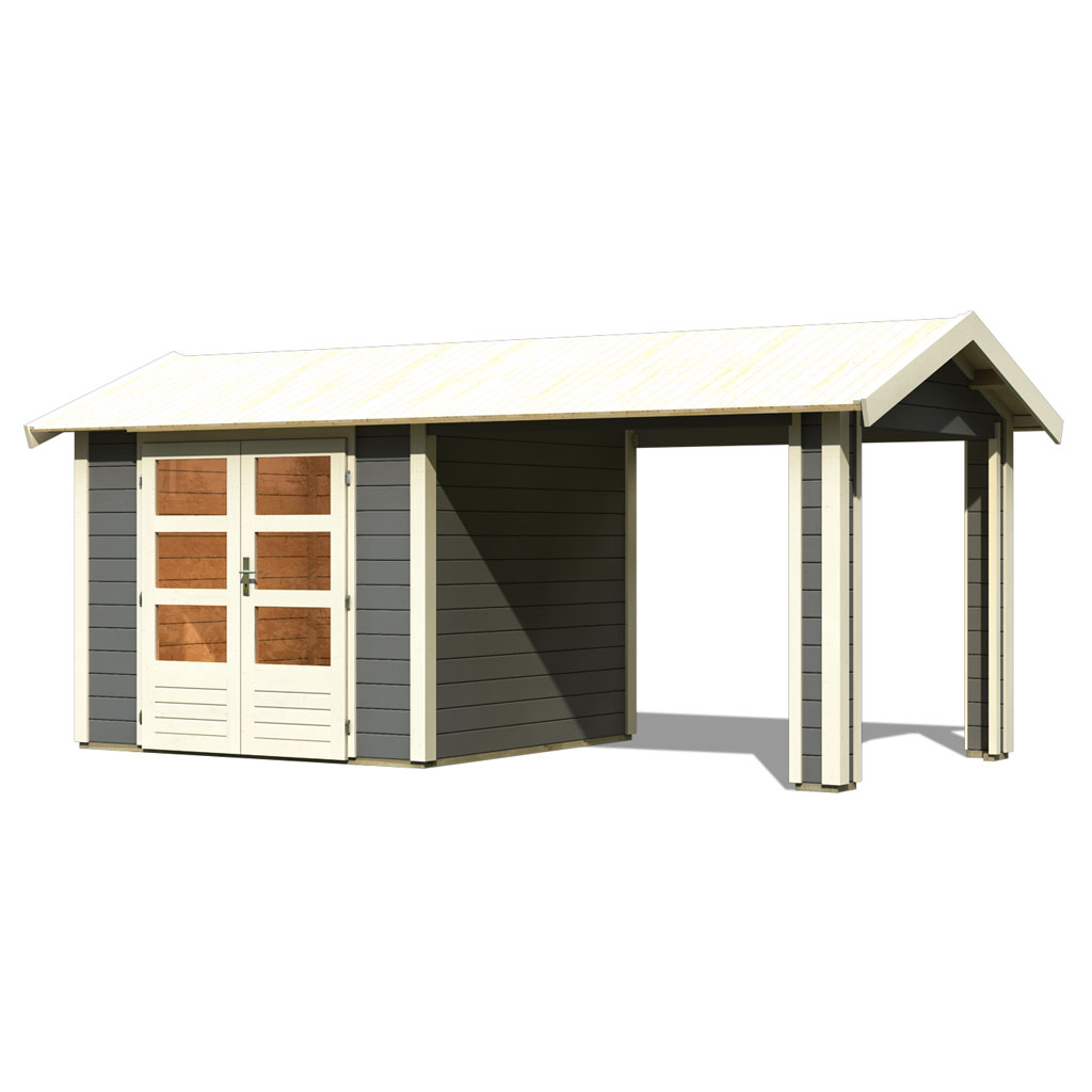 Karibu Gartenhäuser Versandhandel by Gamoni.de. Woodfeeling 28 mm ...