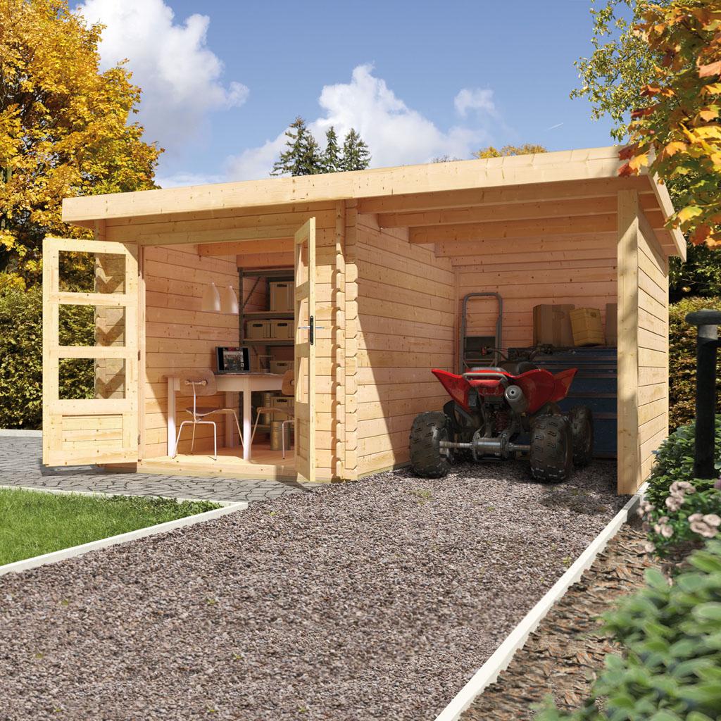 Bekannt Karibu Gartenhäuser Versandhandel by Gamoni.de. Woodfeeling 28 mm MO17