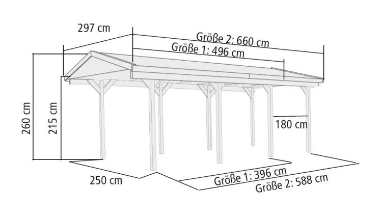 karibu gartenh user versandhandel by karibu satteldach einzel carport classic 2. Black Bedroom Furniture Sets. Home Design Ideas